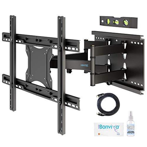 BONTEC TV Wandhalterung Schwenkbar Neigbar Wand Halter Aufhängung Fernseh Halterung für 37-80 Zoll (ca. 94-203cm) Curved LCD/LED Fernseh Vollbewegung - 90kg Tragfähigkeit - VESA 100x100-600x400