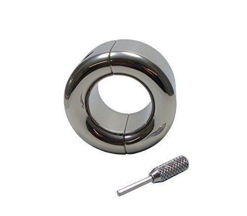 Cockring Metall Ballstrecher Cock-Ring Hodengewicht Edelstahl Hodensackstretcher Hodenring Hodenstrecker Penis-Ringe CBT Bondage für Männer (Innen Ø 33 mm / 655 g)