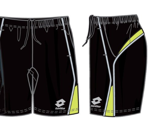 Lotto Hose Shock, Herren, Gr. XL (US), black/liz.green (Liz Bekleidung Black)