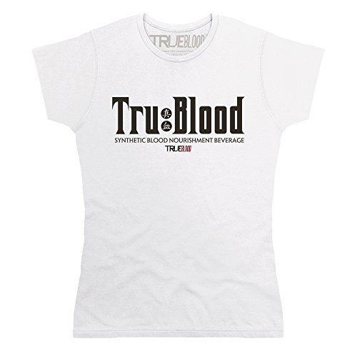 Official True Blood - TRU Blood 2 T-Shirt, Damen, Wei, XL -