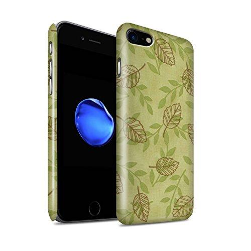 STUFF4 Glanz Snap-On Hülle / Case für Apple iPhone 8 / Pack (6 pcs) / Blatt/Ast Muster Kollektion Grün/Braun