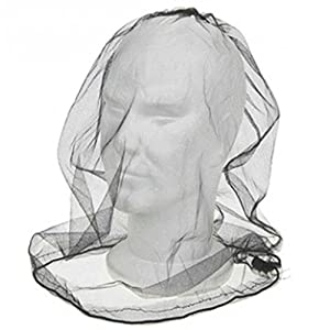 41ewdy7jItL. SS300  - ASAB Deluxe Over The Head Midge & Mosquito Mesh Net Protector Adjustable For Face And Neck Lightweight Compact Storage…