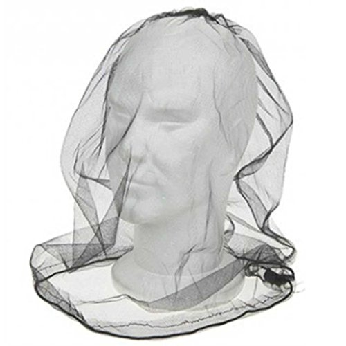 41ewdy7jItL. SS500  - ASAB Deluxe Over The Head Midge & Mosquito Mesh Net Protector Adjustable For Face And Neck Lightweight Compact Storage…