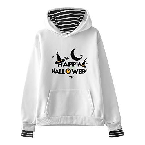 Pullover Damen Halloween Kostüm Sweatshirt mit Kapuze Gestreifte Oberteile Herbst Winter Loose Fit Kapuzenpullis Lomelomme Sweatjacke Kapuzenpullover Hoodie Vortäuschen Twin-Sets (Regal Rote Prinzessin Kostüm)