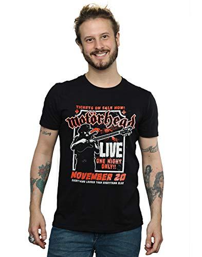 Absolute Cult Motorhead Hombre Lemmy Firepower Camiseta Negro...