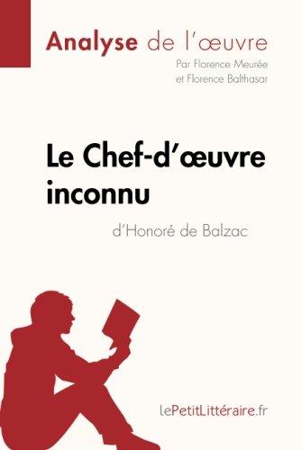 Le Chef-d'oeuvre inconnu d'Honoré de Balzac (Analyse de l'oeuvre): Comprendre La Littérature Avec Lepetitlittéraire.Fr