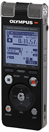 Olympus V40711BE000 DM-670 Dictaphone 8 Go + micro SD