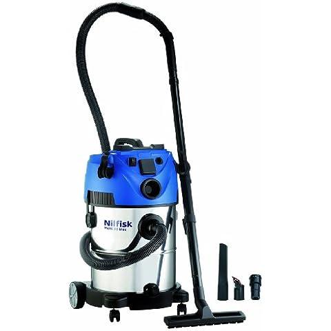 Nilfisk 107402052 Multi 30 T VSC - Aspiradora con sistema de limpieza por agua, color azul y