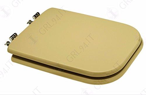 Copriwater sedile wc colore champagne compatibile conca ceramica ideal standard