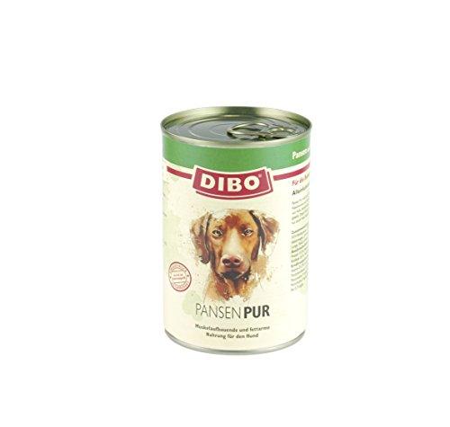 DIBO Pur Pansen & Blättermagen, 6 x 400g-Dose, Hundefutter, Nassfutterohne Konservierungsstoffe, reine Fleischdosen aus frischem und natürlichem Fleisch! DIBO-Qualität