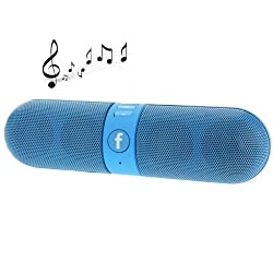 Bluetooth Capsule ( Pill ) Speaker With FM | Pendrive SD card Input | MP3 Music Player | Portable Device | Handsfree | Mic | Stereo speaker | Mini Speaker | High Definition Audio Compatible With Android Apple Iphone Devices Car Outdoor Speaker