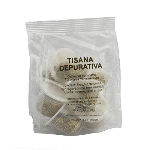 100 capsule tisana depurativa compatibili Nespresso, capsule compatibili nespresso, kit 100 capsule compatibili macchine Nespresso, capsule compatibili tisana depurativa senza zuccheri aggiunti.