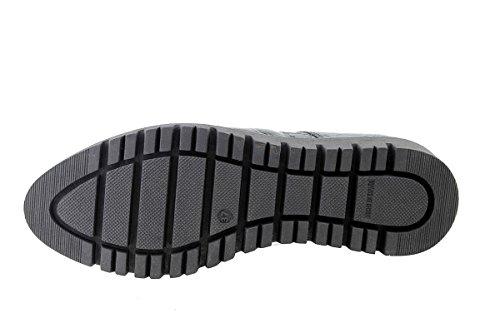 PieSanto Chaussure Femme Confort en Cuir 175701 à Lacets Confortables Amples Negro (Black)
