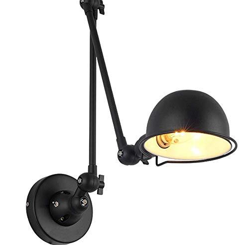 CMDDYY Wandlampe, Retro-Industriellen Stil Esszimmer Lampe, American Land Schlafzimmer Nachttischlampe Führte Persönlichkeit Kreative Rocker Wandleuchte E14,A