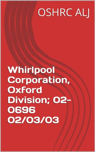 Whirlpool Corporation, Oxford Division; 02-0696  02/03/03 (English Edition)