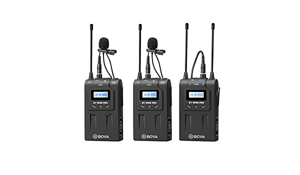 Video Recording BOYA UHF Wireless Lavalier Microphone System with Wireless Transmitters/& Receiver Compatible for Canon Nikon Sony DSLR Camera,XLR camcorder Phone Ideal for inteview Program Hosting