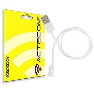 actecom Cable de Carga USB Reloj Inteligente Conector magnético 2 Pines 10