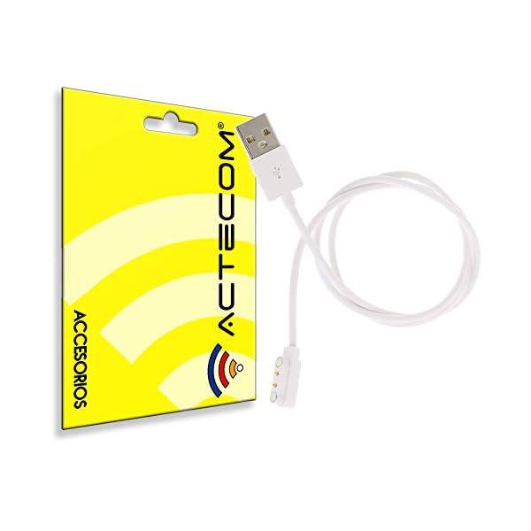 actecom Cable de Carga USB Reloj Inteligente Conector magnético 2 Pines 1