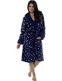 8f2acc1a3c KATE MORGAN Ladies Luxury Soft   Cosy Hooded Dressing Gown