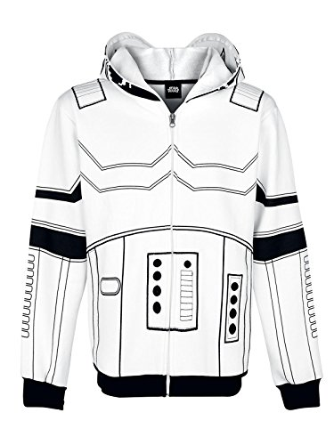 STAR WARS Stormtrooper giacca con cappuccio bianco bianco M