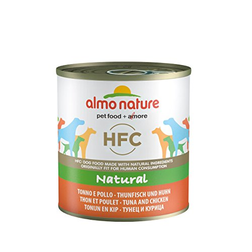 Almo Nature HFC Natural – Tonno e Pollo – umido cane 100% naturale – 12×290 g lattina