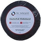 """Kautschuk-Isolierklebeband 50 x 3 mm, negro 15 mtr., Original """"La Kautschukklebeband Isolierprofi""""."""