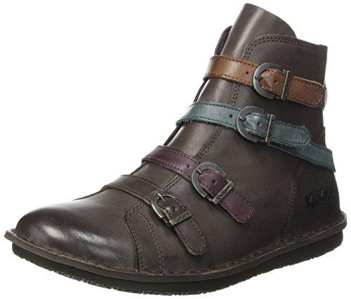 KickersWaxing - Stivali classici alla caviglia Donna , marrone (Marron (Marron Foncé Multico)), 39 EU