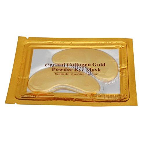 Goldene-blatt-grüner Tee Tee (Huihong 24K Gold Collagen EYE Mask, Alternde Falten unter Crystal Gel Patch Anti-Maske - reduziert dunkle Ringe, entfernt Schwellungen)