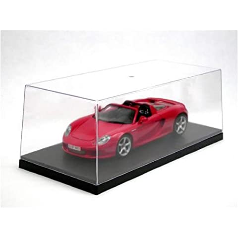 Vitrina para coches de escala 1:18 [Triple 9 Collection], Vitrina (335 x 155 x 110 mm interior) - incl. placa negra de base