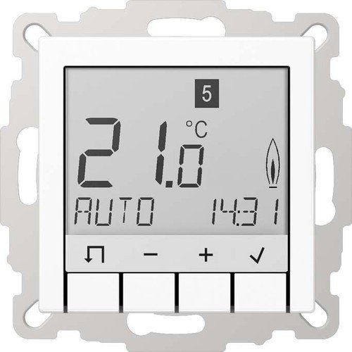 Jung serie-a - Universal serie-a Thermostat mit Display weiß alpin