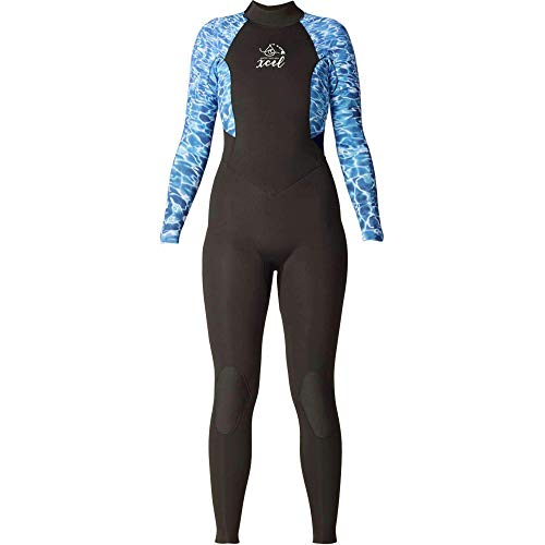 4d8cf1d6af XCEL Womens Ocean Ramsey 3/2 Axis Full Wetsuit in Water Print | NEW Womens  Full Length Wetsuit