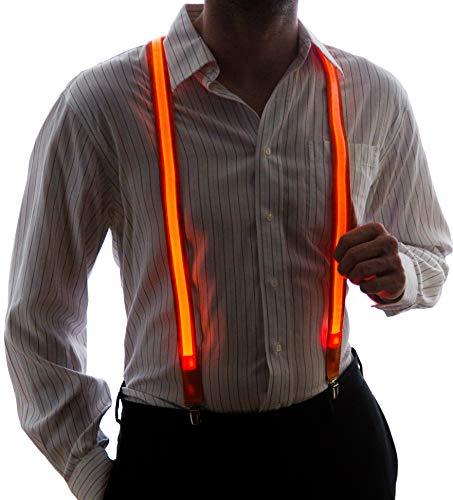(NEON NIGHTLIFE Männer leuchten LED Strapse, eine Größe, orange)