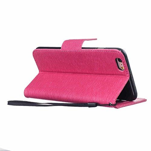 """iPhone 6 Plus Case,iPhone 6S Plus Housse, LANDEE Mince Clamshell Feder Motif Carte Slots Support Bouton Case Housse Cover Étui Coque pour iPhone 6 Plus / iPhone 6S Plus (5.5"""")(6P-P-607) 6P-P-607"""
