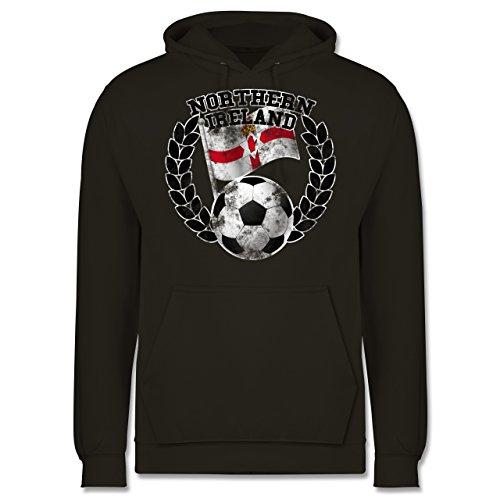 EM 2016 - Frankreich - Northern Ireland Flagge & Fußball Vintage - Männer Premium Kapuzenpullover / Hoodie Olivgrün