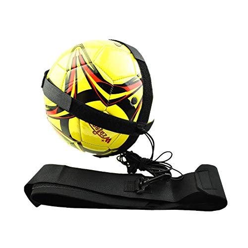 Anney Football Trainer Fußball Practice Solo, Fußball Training Adjustable Waist Belt für Kinder Anfänger Kick Off Trainer mit Neopren Gürtel für Kinder (S) - Gummi-kick