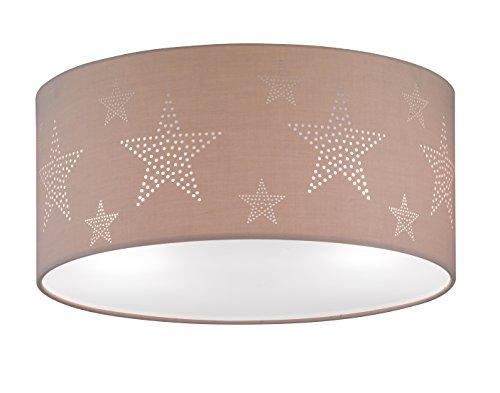 Deckenleuchte Chrom Stoffschirm Motiv Stern Melange 22272 Spot Design Lampe Leuchte Beleuchtung Hängelampe