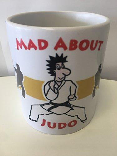 Judo Taza Mug Deportes Memorabilia Artes Marciales Negro Cinturón