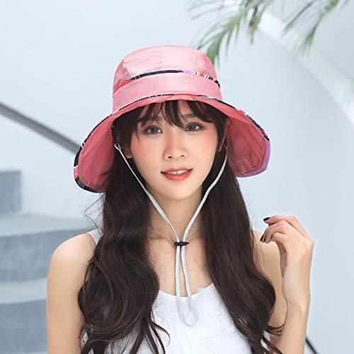 Jessica Cotton Polyester Sun Hat, Wide Brim Dome Beach Caps,Lightweight Unfoldable Visor Hat,D