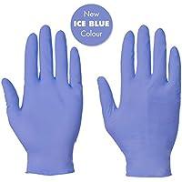 Lot de 100 gants jetables en Nitrile Non poudrés Bleu Taille L (free P P & sur tous les produits)
