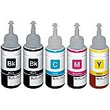 1 Conjunto + 1 Black Colour Direct Compatible Botella de tinta de recarga Reemplazo Por Epson T6641 T6642 T6643 T6644 - EcoTank ET-14000 ET-2500 ET-2550 ET-2600 ET-2650 ET-3600 ET-4500 L355 L555 Impresoras
