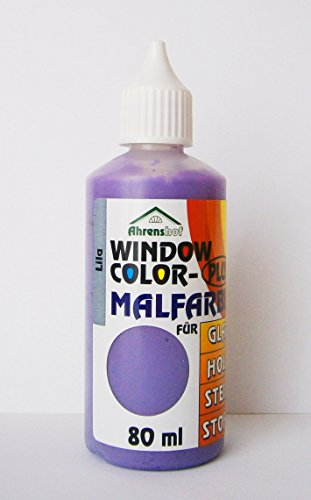 WINDOW COLOR MALFARBE 80ml Farbe Fenstermalfarbe Fensterfarbe 24 Farben Glas - Lila Glasmalerei
