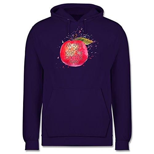 Statement Shirts - An apple a day keeps the doctor away - Männer Premium Kapuzenpullover / Hoodie Lila