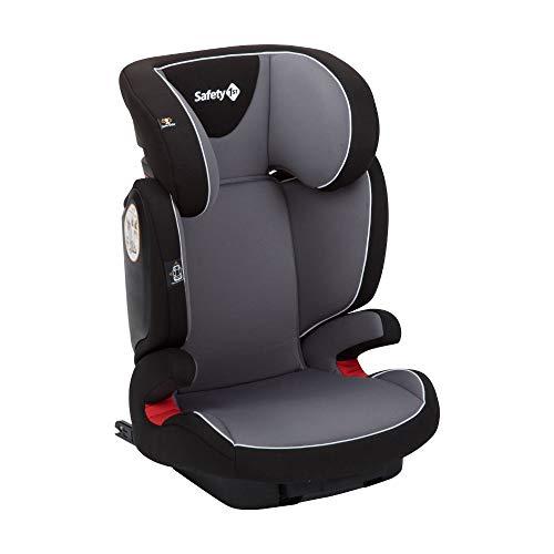 Safety 1st Road Fix-Kindersitz, Gruppe 2/3, praktischer Autositz mit ISOFIX-Installation, höhenverstellbar, nutzbar ab 3 - 12 Jahre, ca. 15 - 36 kg, hot grey (grau)
