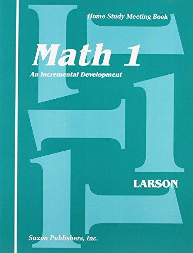 Saxon Math 1 Meeting Book First Edition (Homeschool Math