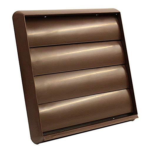 Kair Air Vent Gravity Grille with Non-Return Shutter Flaps - 6 inch / 150mm Round Spigot - Brown - SYS-150 - DUCVKC292-BR by Kair -
