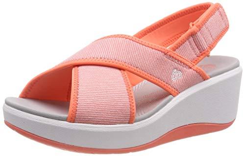 Clarks Step Cali Cove, Zapatillas para Mujer, Naranja (Coral-), 39 EU