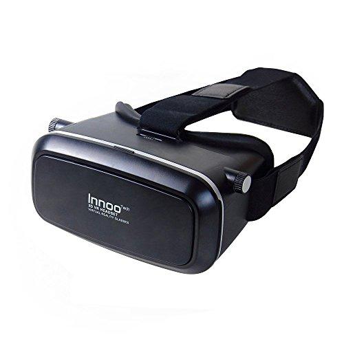 InnooTech 3D VR Virtual Reality Brille Game Videos Movies Film Virtuelle Realität Glasses Einstellbar für 3,5-6 Zoll Android IOS Iphone Samsung Smartphone
