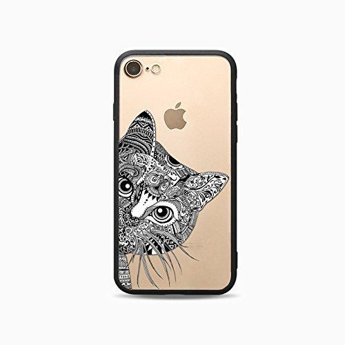 Coque iPhone 6 6s Housse étui-Case Transparent Liquid Crystal Les animaux en TPU Silicone Clair,Protection Ultra Mince Premium,Coque Prime pour iPhone 6 6s-Cheval-style 12 19