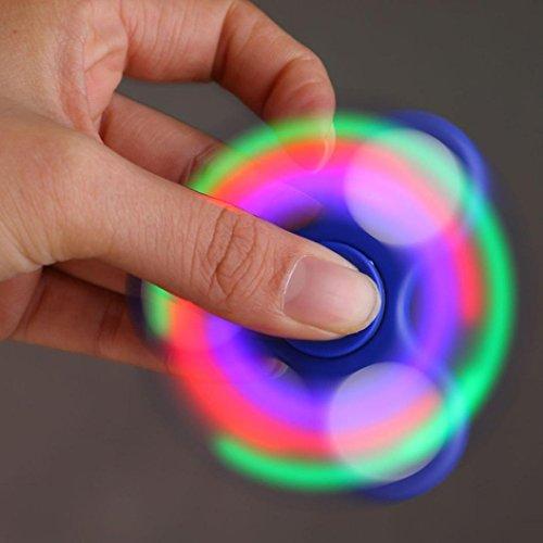 Fidget Spinner Switchali LED Ligero Hand Spinner Fidget Juguete Anti Ansiedad para Niños y Jóvenes Adultos Juguete Educación Juguetes de Aprendizaje - Juego Sensorial Hand Spinner en Oferta (Azul)