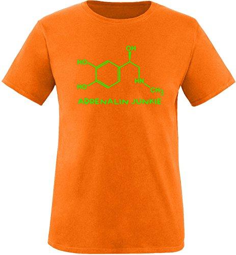 EZYshirt® Adrenalin Junkie Herren Rundhals T-Shirt Orange/Neongrün